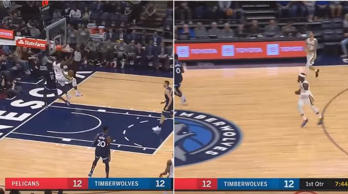 【影片】兩秒完成一次進攻,讓全體灰狼都看懵,球哥和胖虎的連線太默契了!