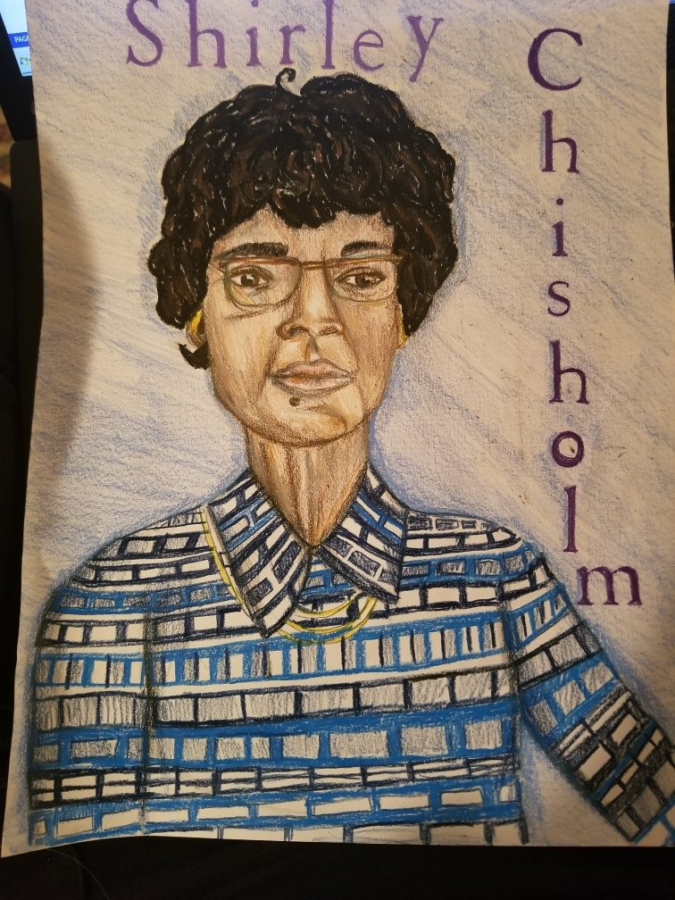 My daughter who drew this for Black History Month; also works for Int'l Women's Day!