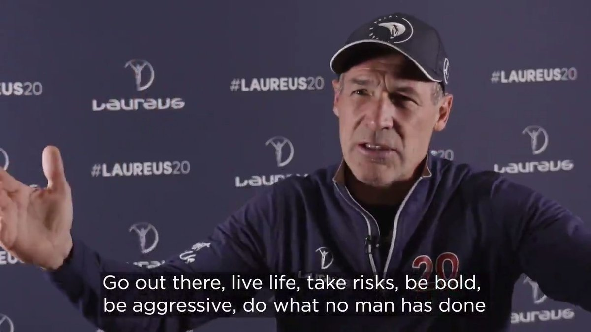 Nothing but pure inspiration from the incredible Laureus Academy member @ExploreMikeHorn 🙌  #SportUnitesUs #WednesdayMotivation #WednesdayWisdom