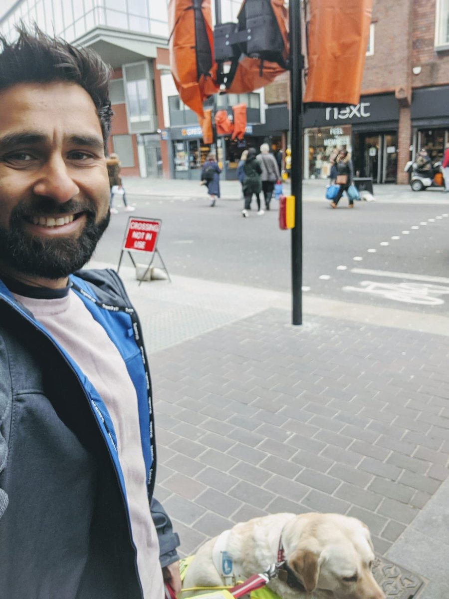 After raising concerns to @Royal_Greenwich about how unsafe a 'shared crossing' on my high st would be, plus multiple meetings with my MP @CliveEfford & Council planners, I'm so pleased to learn that a new controlled crossing is now installed & will be in operation soon. twitter.com/BlindDad_Uk/st…