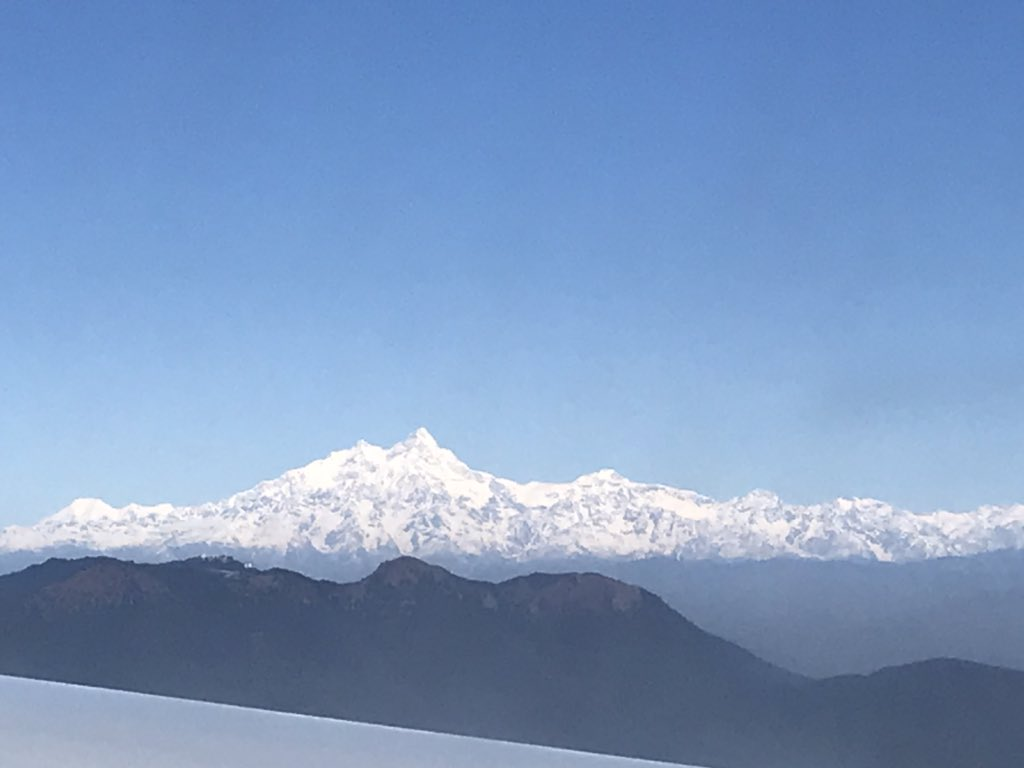 The top of the world! #Himalayas