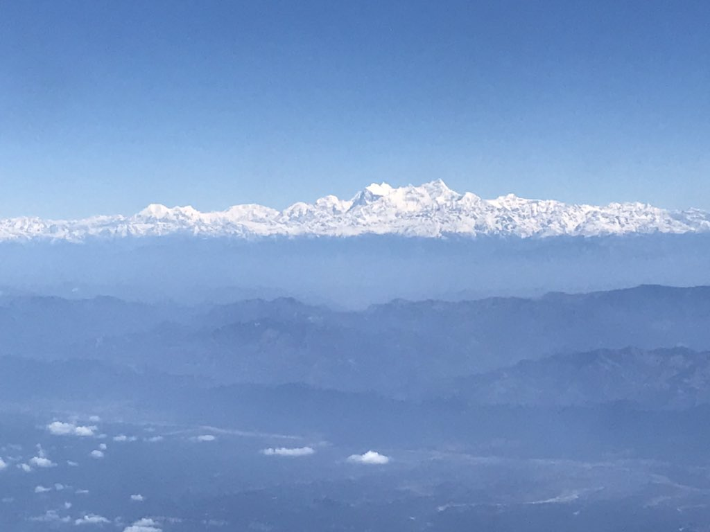 Another shot of the world's tallest places! Sobering #Himalayas