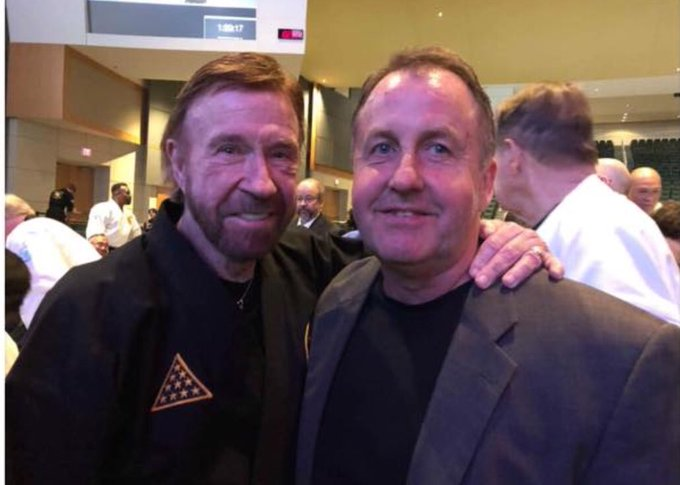 I want to wish Chuck Norris a happy birthday.