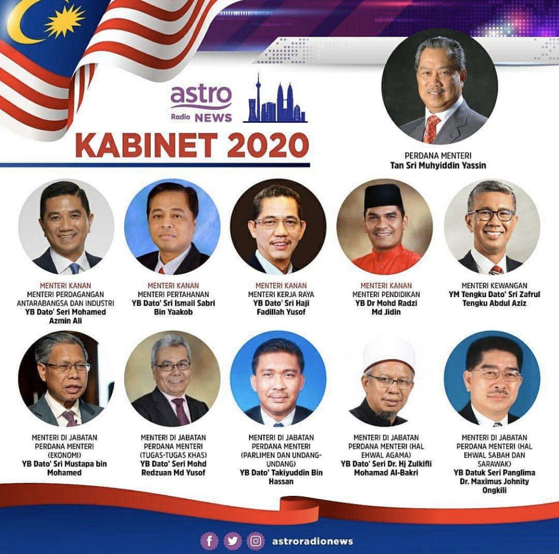 Resume Kreatif On Twitter Senarai Barisan Kabinetmalaysia2020