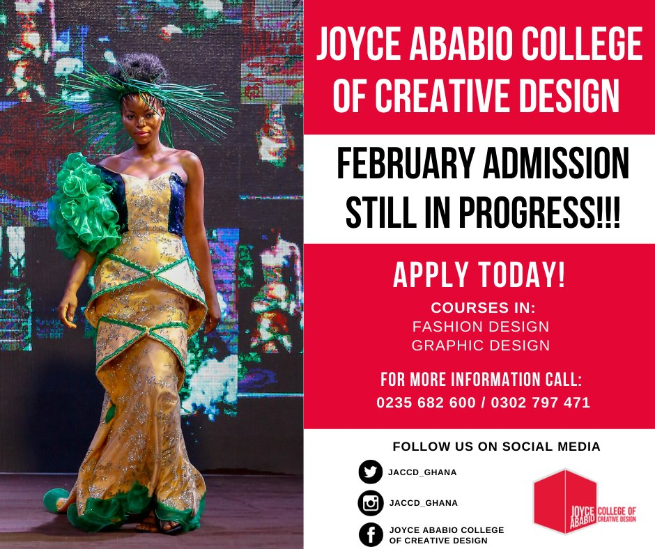 Joyce Ababio College Of Creative Design On Twitter Announcement Announcement Announcement February Admissions Are Still In Progress You Can Apply Now For Courses In Graphic Design And Fashion Design For More Information