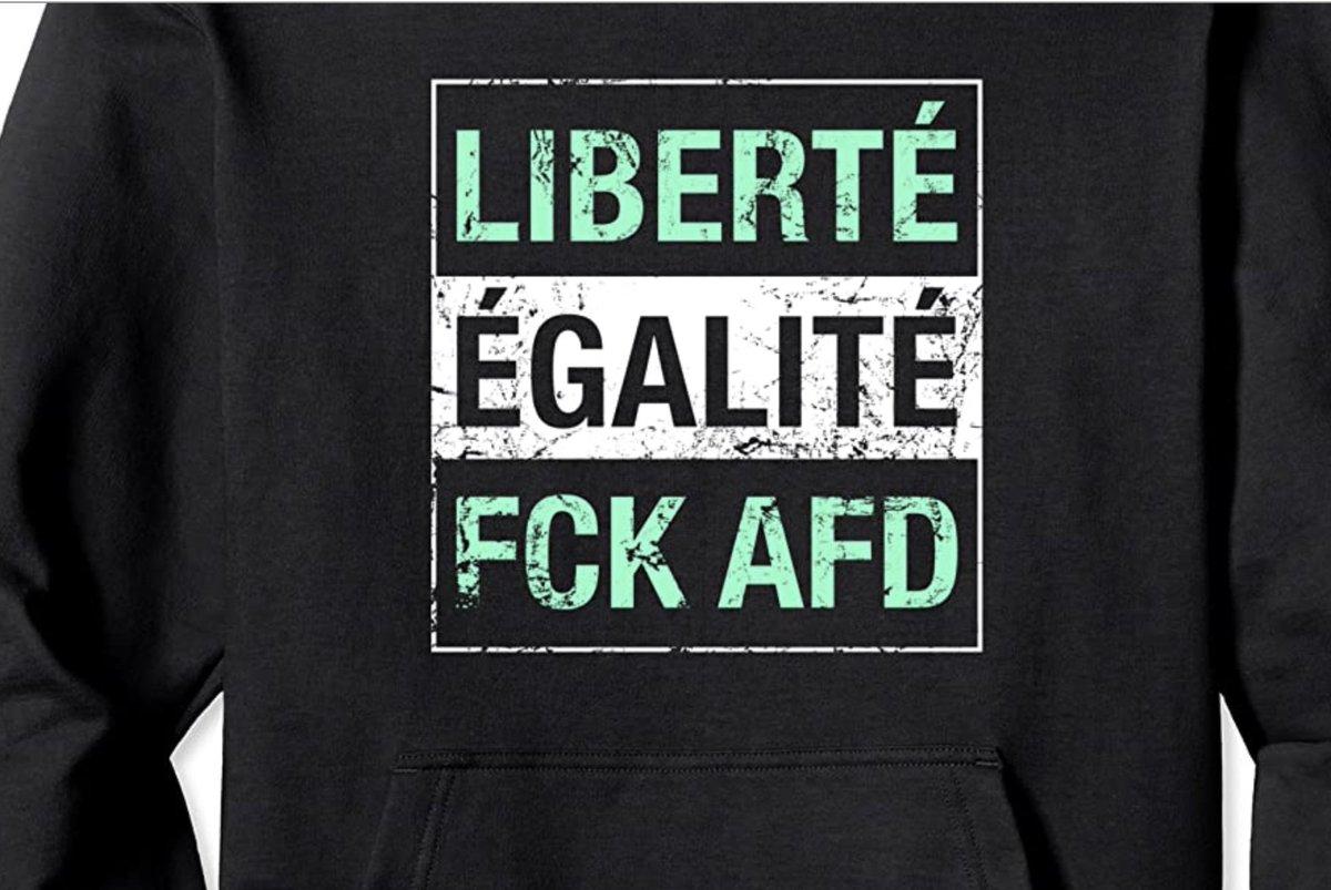Liberté Égalité FCK AFD  http://amzn.to/39A23TX  #gegenrechts #fcknzs #fcknazis #fucknazis #fckafd #fcknzstshirt #antifa #lustigebilder #gesellschaft #rechtegewalt #tuilmenau #berlin #hamburg #münchenpic.twitter.com/QVGxHKR7L0