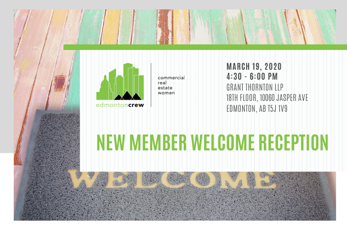 Are you new to CREW? Join us at our New Member Welcome Reception for wine, cheese, and mingling with other Edmonton CREW members.  RSVP to https://bit.ly/336kuNz   #edmontoncrew #crewevents #yegcre #newmembers #welcomepic.twitter.com/AmGYk67OOV