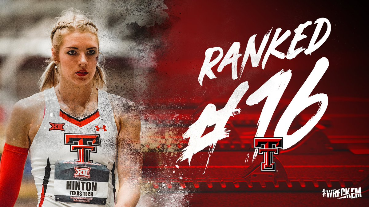 On a mission at 1️⃣6️⃣ We'll enter NCAAs with our highest ranking since 2014. 🔴#WreckEm⚫️