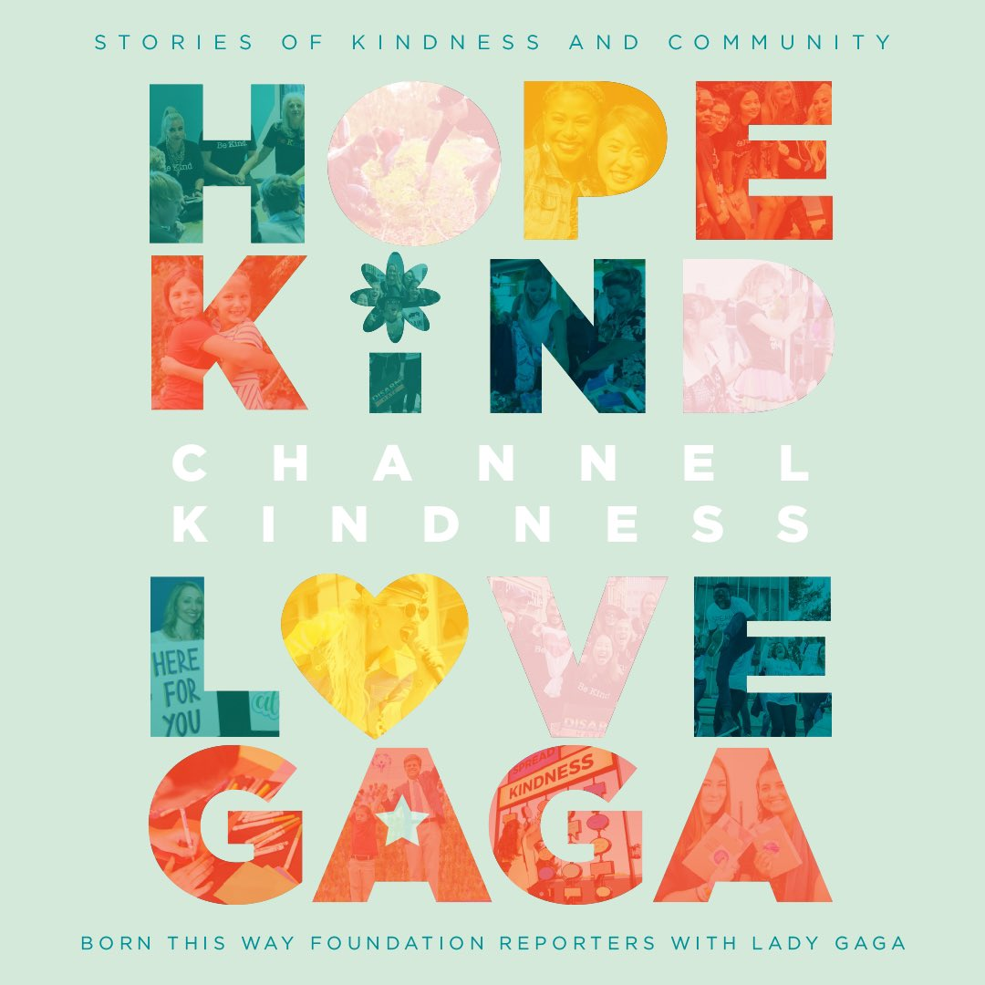 From the beginning, @momgerm  and I wanted @btwfoundation  & @channelkindness  to be powered by the perspectives and experiences of young people. I can't wait for you to read the powerful stories from amazing young people in #ChannelKindness . 🌈