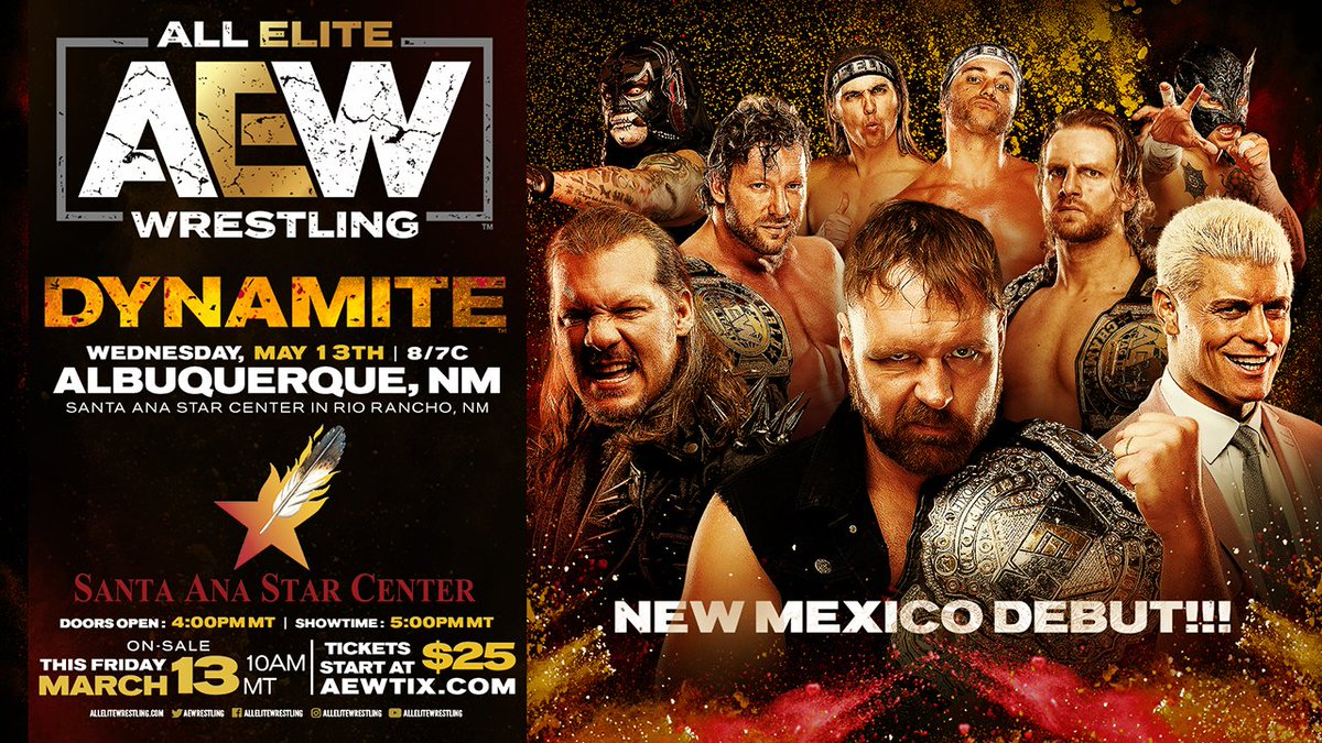 AEW Announces Dynamite Debut In New Mexico