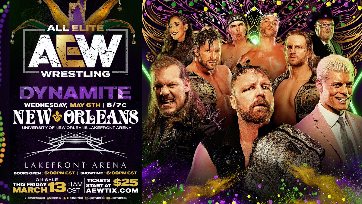 AEW Announces Dynamite Debuts In New Orleans And Albuquerque
