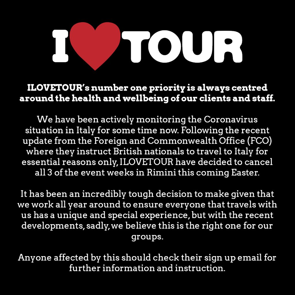 ILOVETOUR Italy Update.  https://t.co/XmCelewdDD https://t.co/ry2bxaLFgs