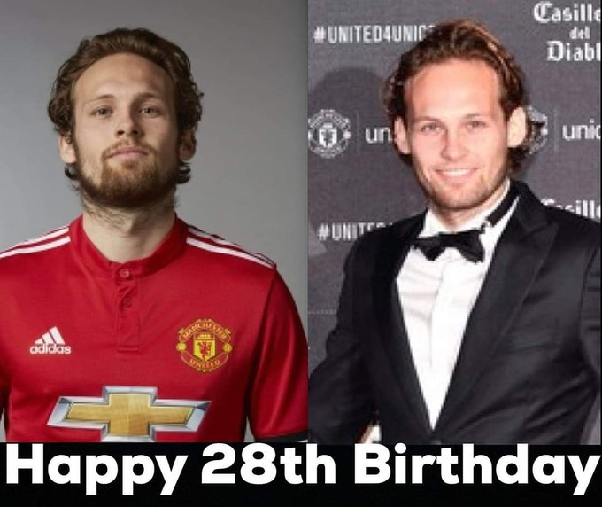 Happy birthday ex United player 2016 FA Cup winner 2017 EFL Cup winner and 2017 Europa League winner Daley Blind