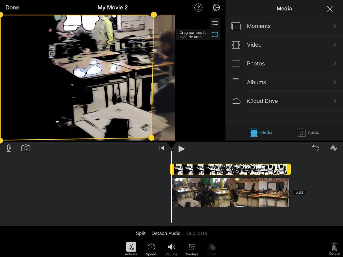 @MrErdoganEDU @DoInkTweets @AppleEDU Thanks. I found this feature just now in iMovie