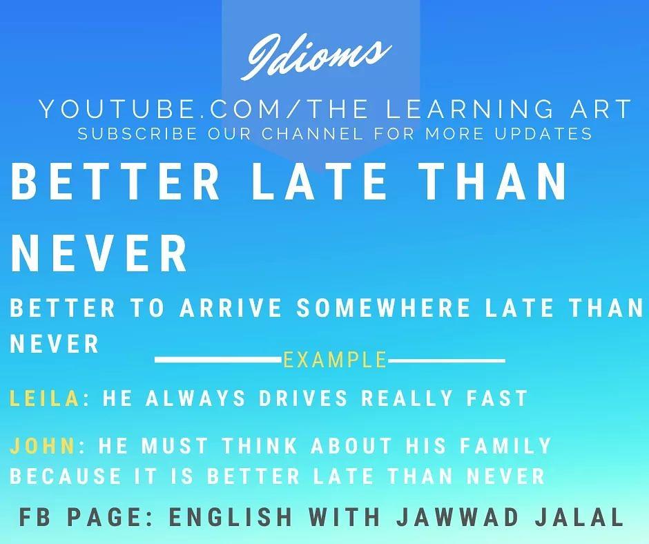 English Idioms  #EnglishWithJawwadJalal #TheLearningArt #TheJawwadJalal #JawwadJalal #EnglishLanguage #EnglishGrammar #OnlineEnglish #EnglishLesson #LearnEnglishpic.twitter.com/IixUp6Mmmk