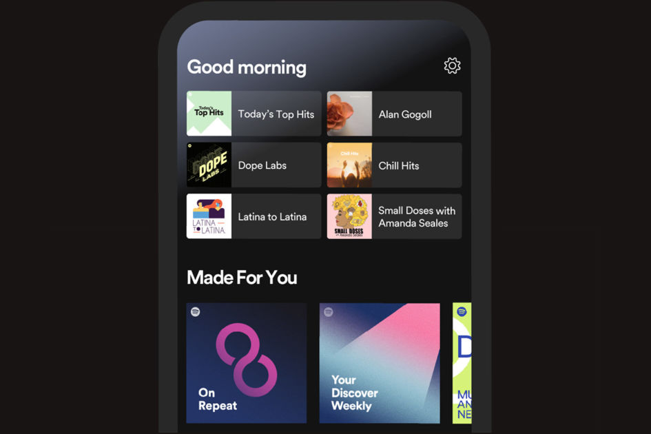 Spotify's new home screen helps you get back to favorites