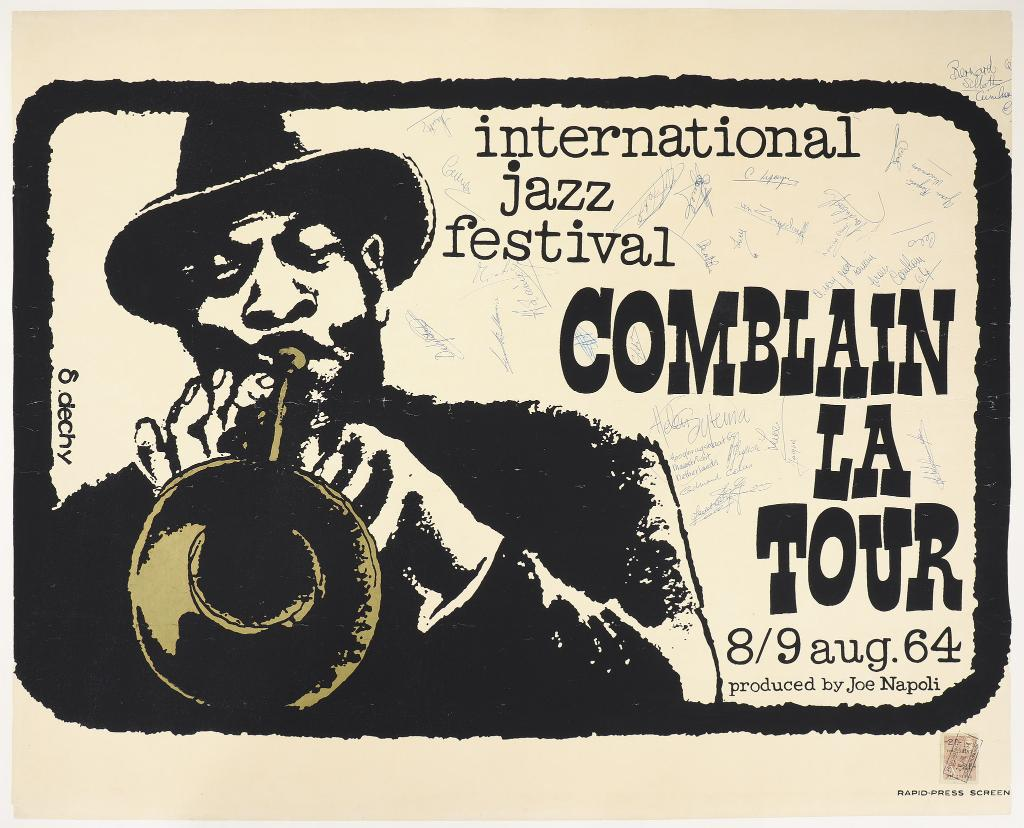 Uchicago Arts On Twitter Ya Like Jazz The New Original Materials In Uchicago Library S Special Collections Includes This Graphic For The 1964 International Jazz Festival By S Dechy Check The Archives Out