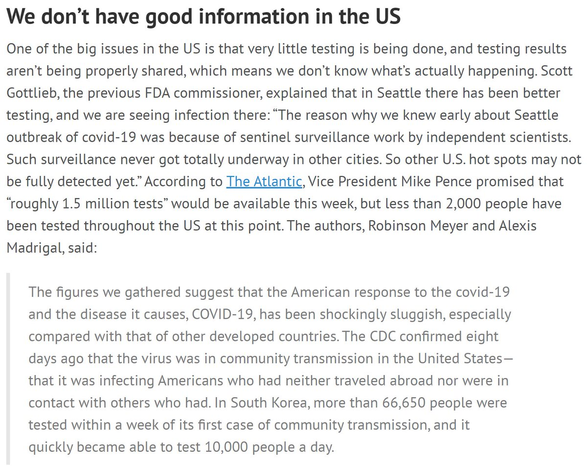 In the US, we are still in the dark about what's really going on in our communities. We can't assume an absence of positive tests means an absence of infections, because the tests aren't being done.13/
