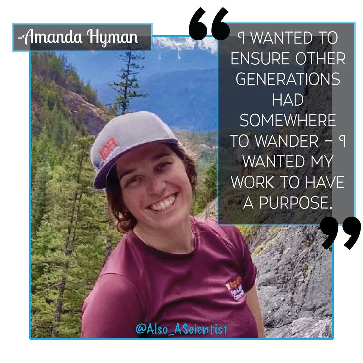Meet @amandaahyman, whose love of the outdoors led her to study how to ensure stable social-ecological systems & optimize conservation budget use. Its perhaps unsurprising that Amanda loves rock-climbing in her free time! #WomenInSTEM #QueerInSTEM ✨ow.ly/VUyj50ytkS8✨