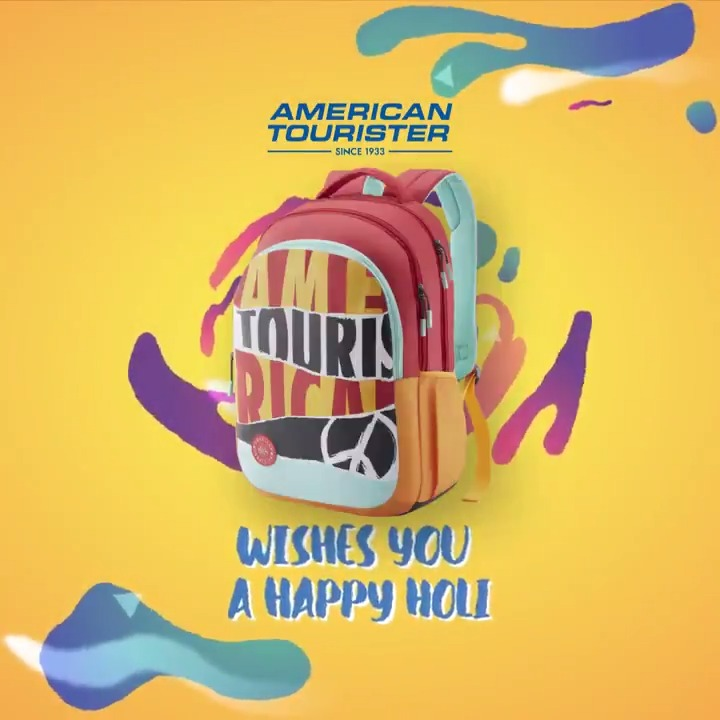 Adding our dash of #SWAG to the festival of colours! This Holi, say #SwagMeraAmericanTourister and revel in the colours with Swag!