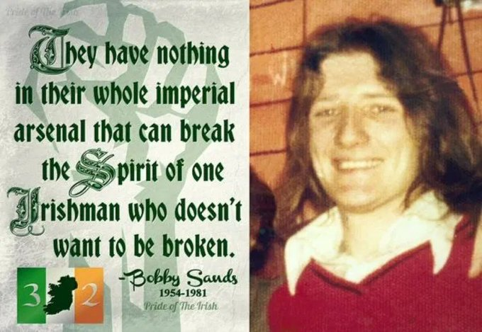 Happy birthday vol Bobby Sands. Born 9 March 1954. Would have been 66 today.