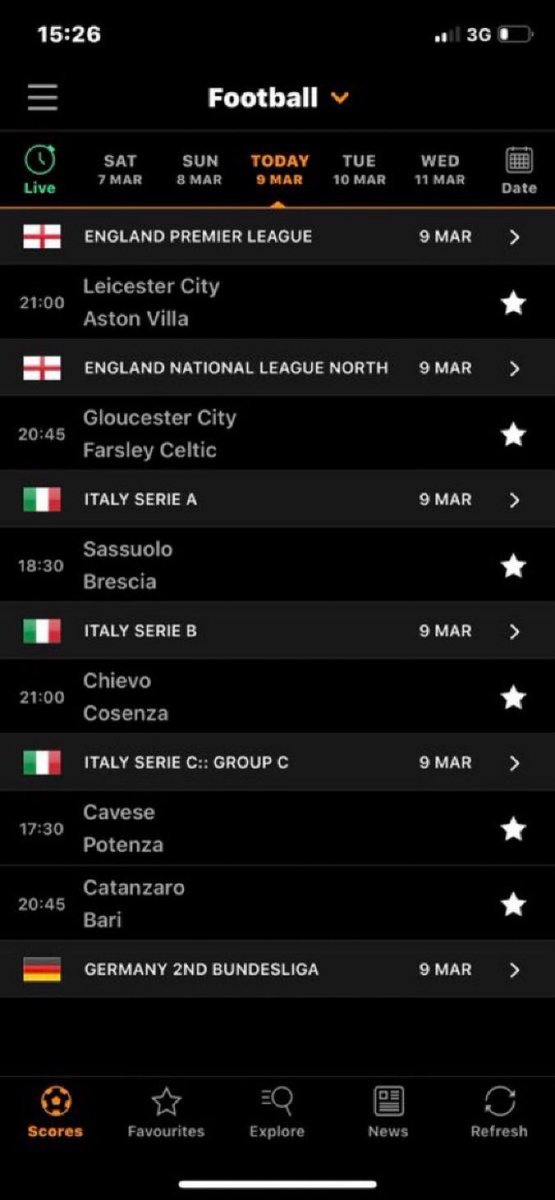 All Livescore Football Results From Yesterday 2020 03 17