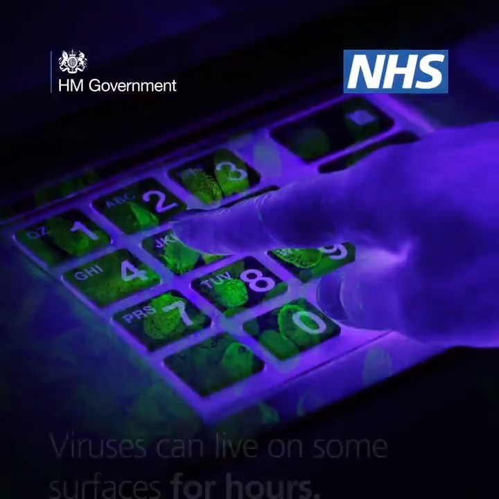 Image for the Tweet beginning: NHS advice: wash your hands