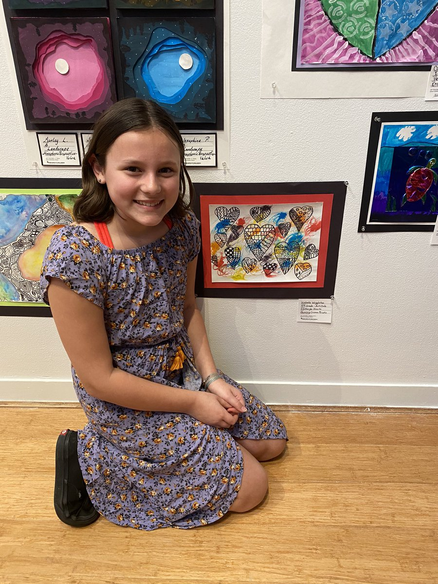 We had so much fun celebrating our artists tonight for Youth Art Month at the MOCA. @catjenkins94 #pembrokepride