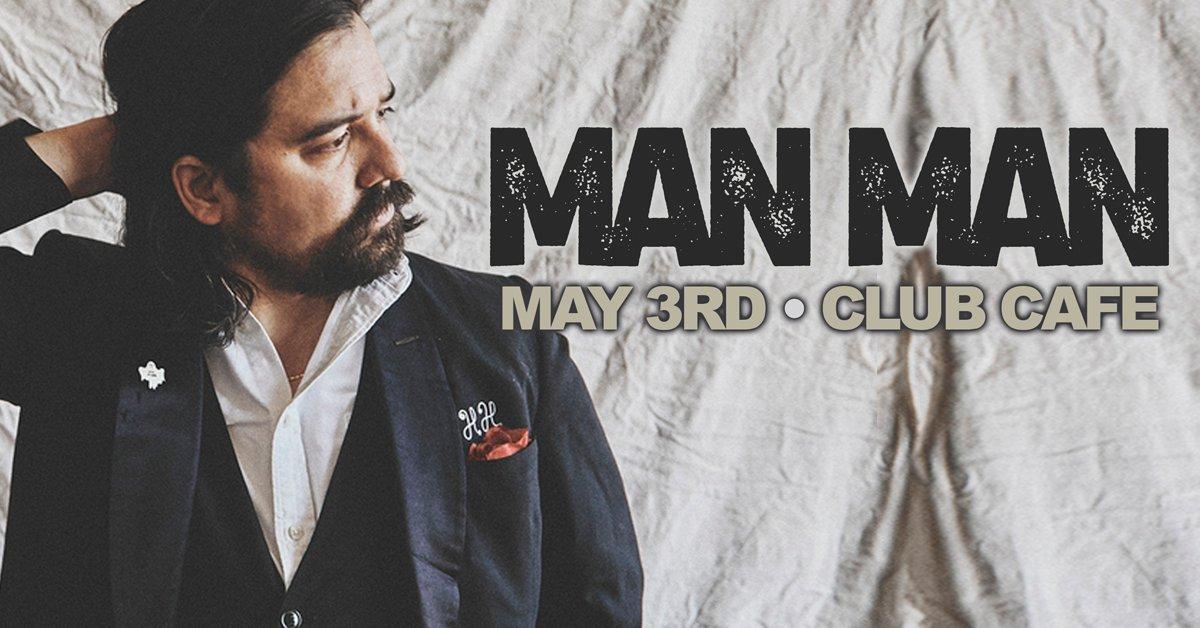 NEW SHOW! @ClubCafeLive: Sun May 03 - @manmanbandband! On Sale NOW via: bit.ly/0503manman