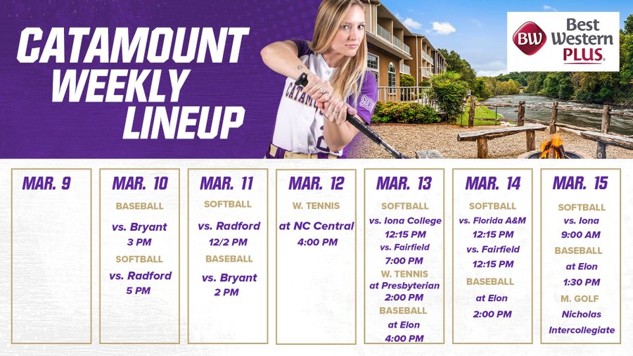 Catamount Weekly Calendar  3-15-20