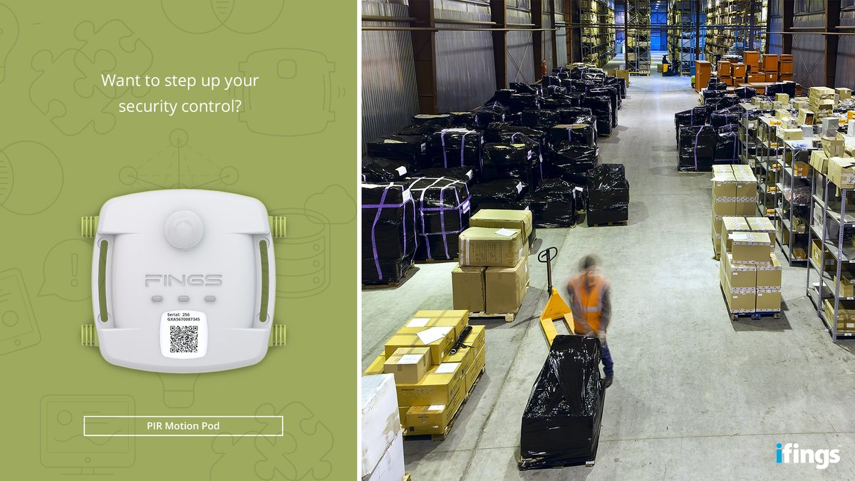 Protecting your company's most valuable assets is easy with the PIR Motion Pod. This #smartdevice keeps you in the know by instantly alerting you when windows, doors or gates are opened or closed.    Visit http://www.ifings.com for more info on our environmental sensors.pic.twitter.com/7gXazKoBpt