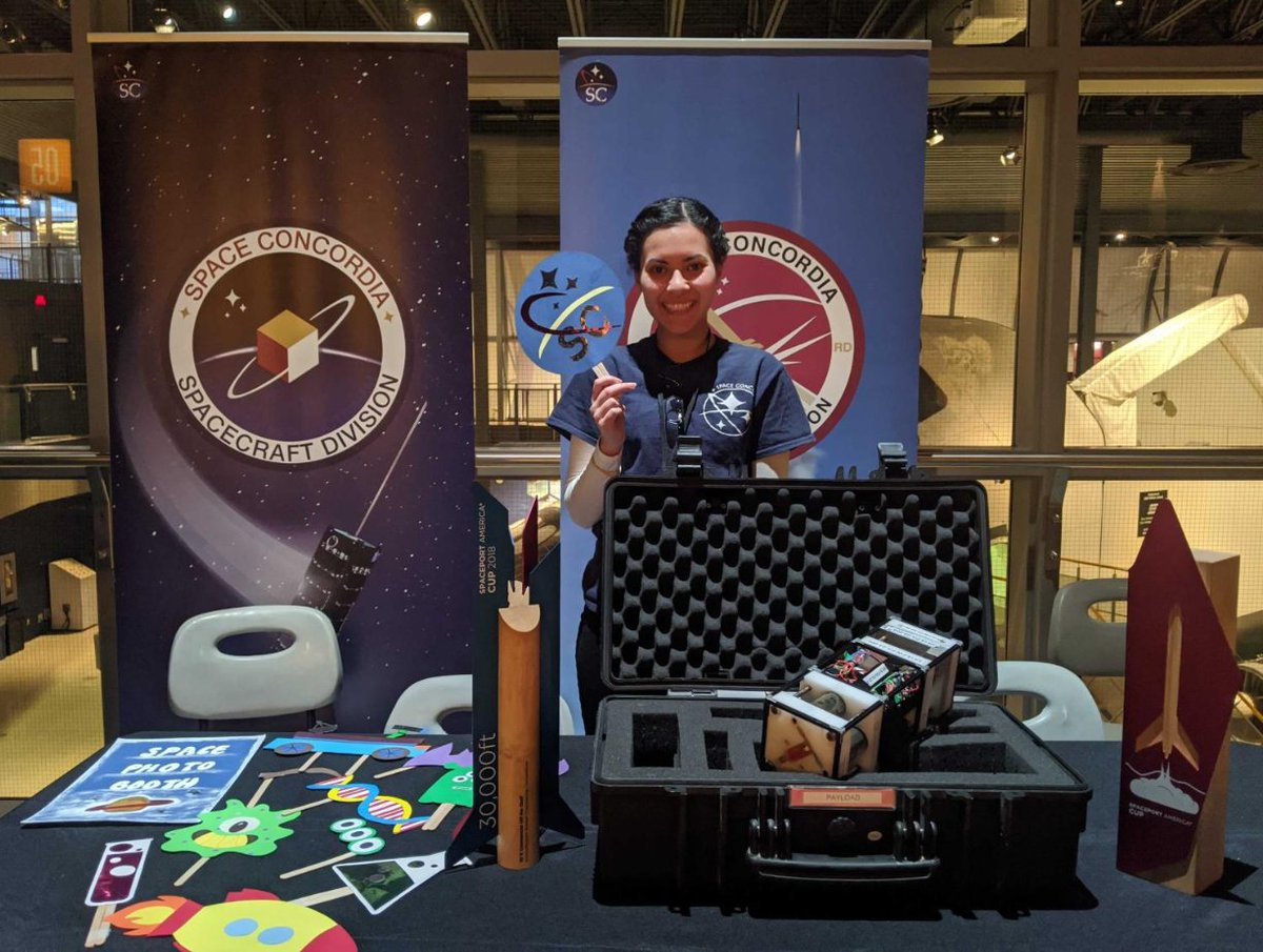 @SpaceConcordia  was at Laval's @CosmodomeLaval  last week for their spring break programming! Student rocketry is about more than just launching rockets! Although we really like that part... https://t.co/74vfqbyRRP
