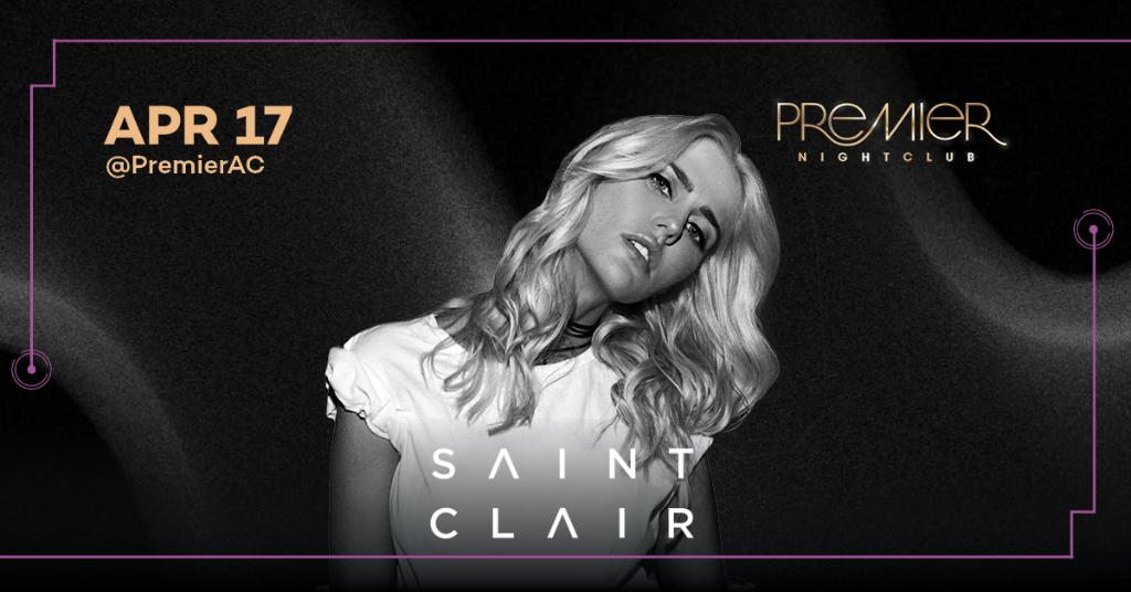 The insanely talented, @SAINTCLAIRMUSIC is back and ready to party with you at #PremierAC on Friday, April 17. Tickets: https://t.co/Q2ni2yOszr. https://t.co/Duq7bx3PZE