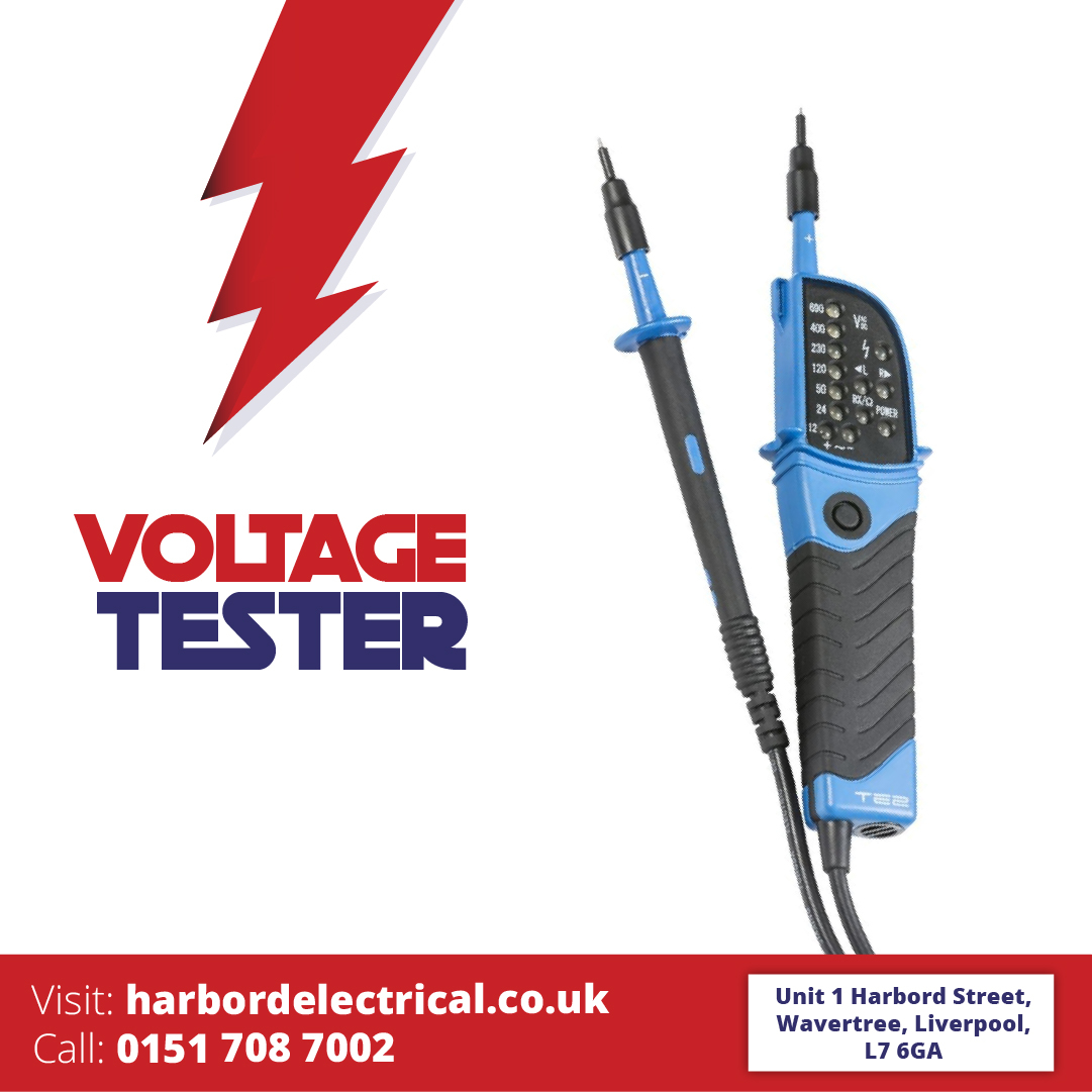 VOLTAGE TESTER 2 POLE WITH LED DISPLAY AND BUILT IN TORCH IP64 TE2