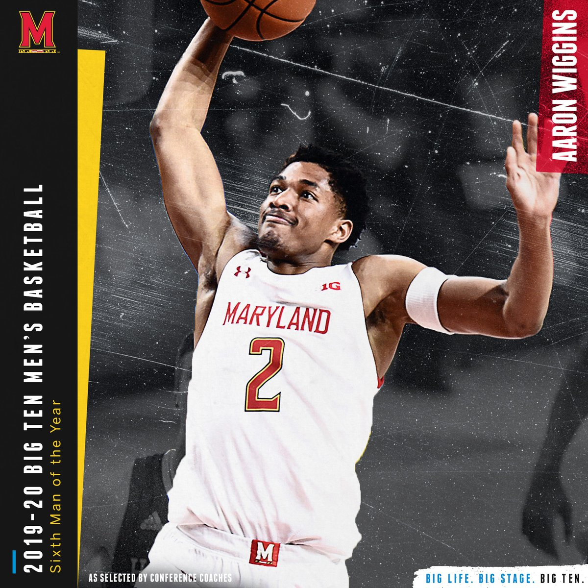 Aaron Wiggins of @TerrapinHoops named the 2019-20 Big Ten Sixth Man of the Year by conference coaches. #B1GMBBall
