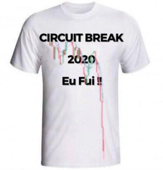 Meme do Twitter: Circuit Breaker da Bolsa: eu fui!