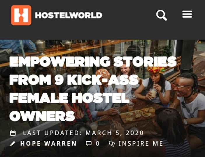 We're happy to be featured as the first female hostel founders of Iran in @hostelworld blog for #InternationalWomenDay2020. #8March is for anyone whose bright enough to understand the importance of an equal society.We're kick as & we like it! Read here: https://t.co/CHPJJua6Kp https://t.co/Xu4p12zfSs