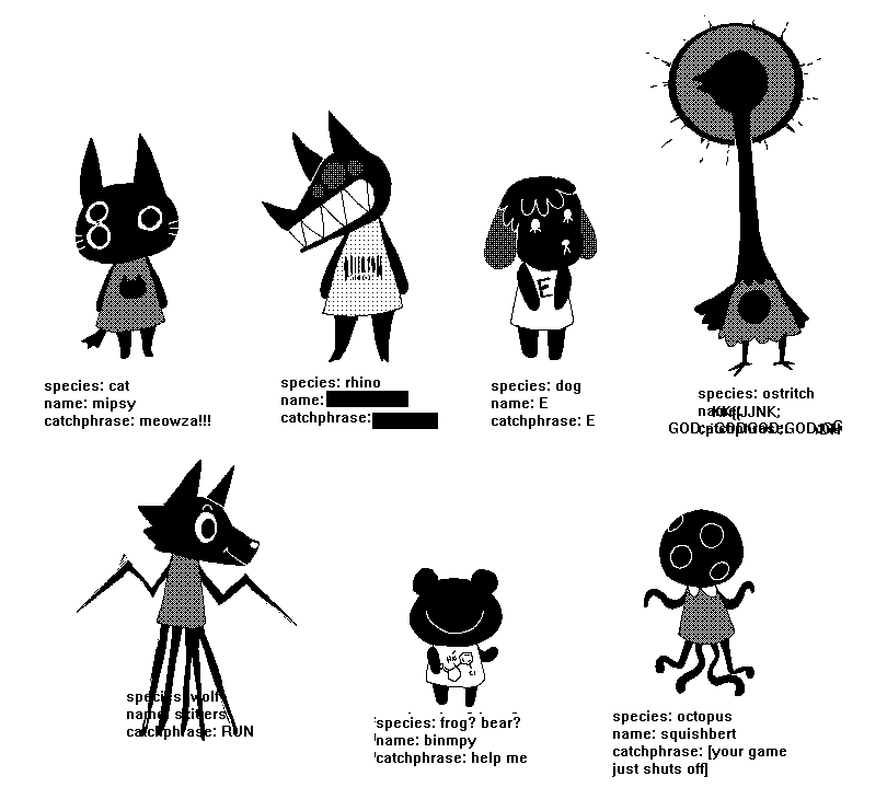New Animal Crossing Characters