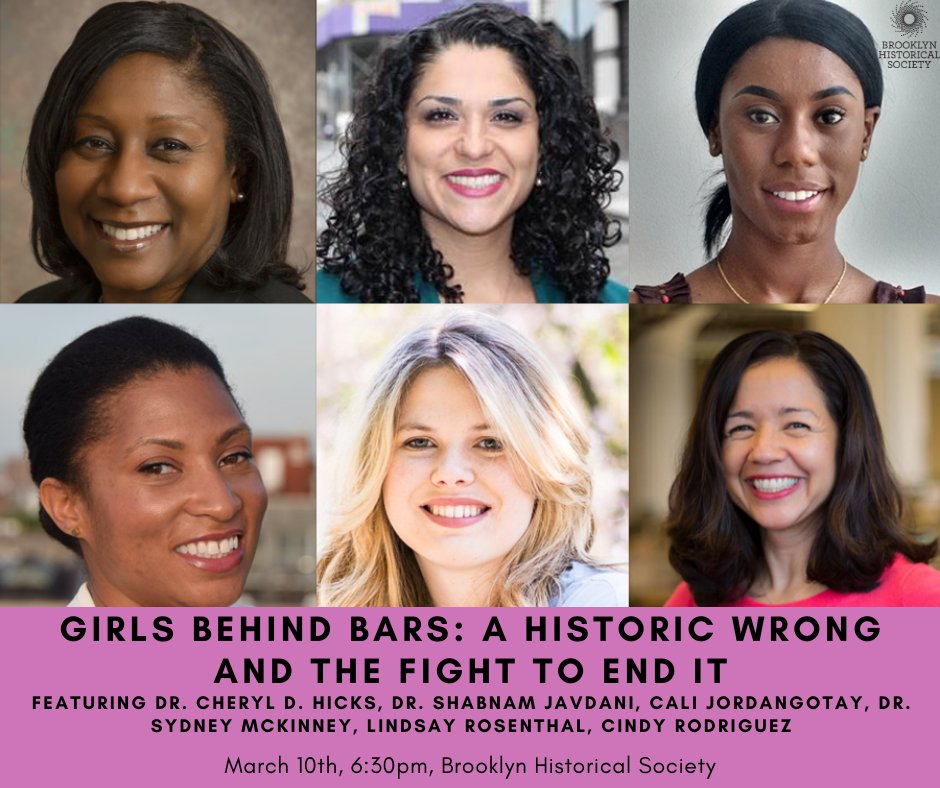 Come to @brooklynhistory to hear these smart women explain how slavery, racism and sexism shaped the current juvenile justice system for girls. Hope to see you there.