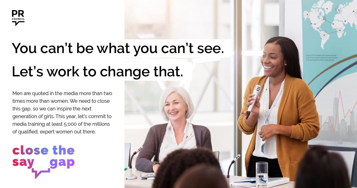 How can we inspire the next generation of girls? We're partnering with the @PRCouncil to help women become visible experts. #YouCantBeWhatYouCantSee #ClosetheSayGap. Learn more here: https://t.co/4XJharD5S6