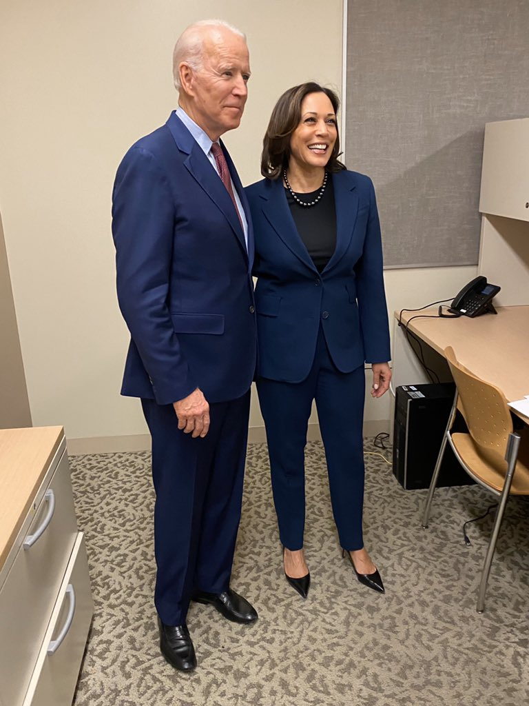 Getting ready to go on stage in Detroit with my friend @JoeBiden!