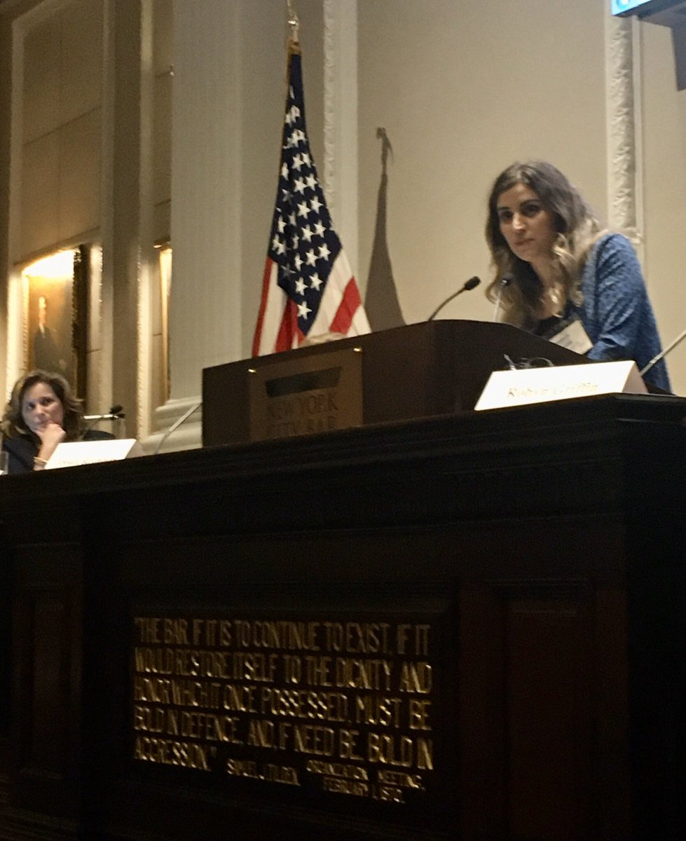 """""""When #Yazidi #women speak out, they need to see that their words have results. They are tired from recounting their stories. People give up hope when you stop listening."""" Laila Khoudeida @YazdaOrg #EndYazidiGenocide @NYCBarAssn"""