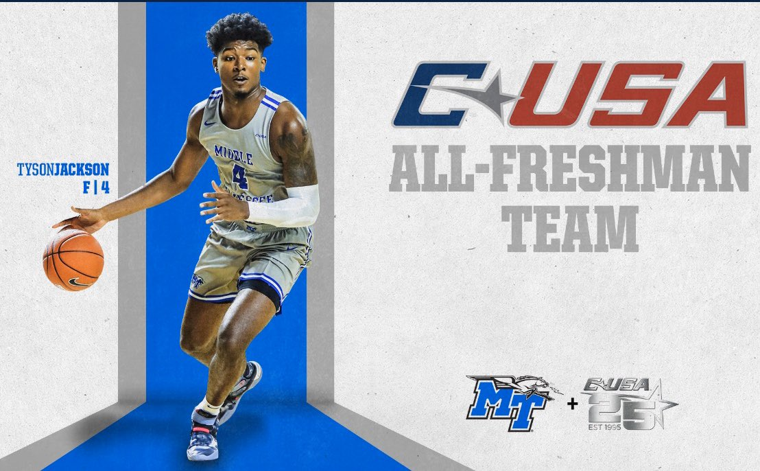 Congrats to @tyson_jackson4 @MT_MBB All Freshman Basketball #Family #underarmour https://t.co/xUjPzjeqhq