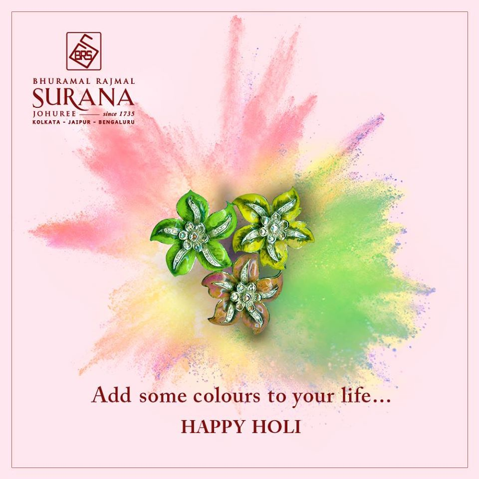 Wishing you a 𝗛𝗮𝗽𝗽𝘆 𝗛𝗼𝗹𝗶 with all the colours in life  #HappyHoli #HoliFestival #SuranaJewellery #BRSJohuree #Craftmanship #WeddingJewellery #TraditionalJewellery #HeritageJewellery #CoutureJewellery #VintageJewellery #JadauJewellery #Traditional #SuranaSince1735pic.twitter.com/EY2HYFo9Pn