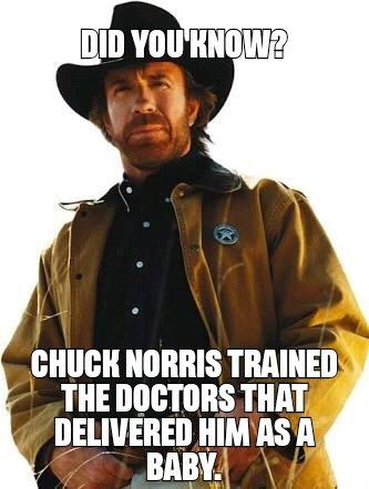 Chuck Norris wishes birthdays a Happy Birthday.  Happy birthday champ.