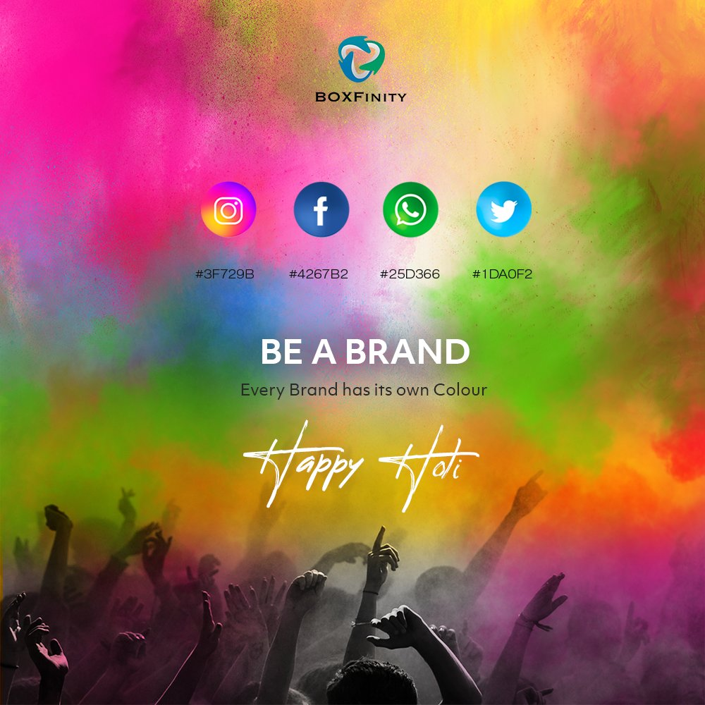 Colour brings the impact to a brand and let the same colour bring you love and happiness today and always. Happy Holi  #HappyHoli #Holi #ColoursFestival #ColorsDay #Holifestival #holidaymemories #holidaymakeup #holidayspirit #Colors #Holiday #Happiness #brand #BOXFinitypic.twitter.com/7XAk0i5PJX