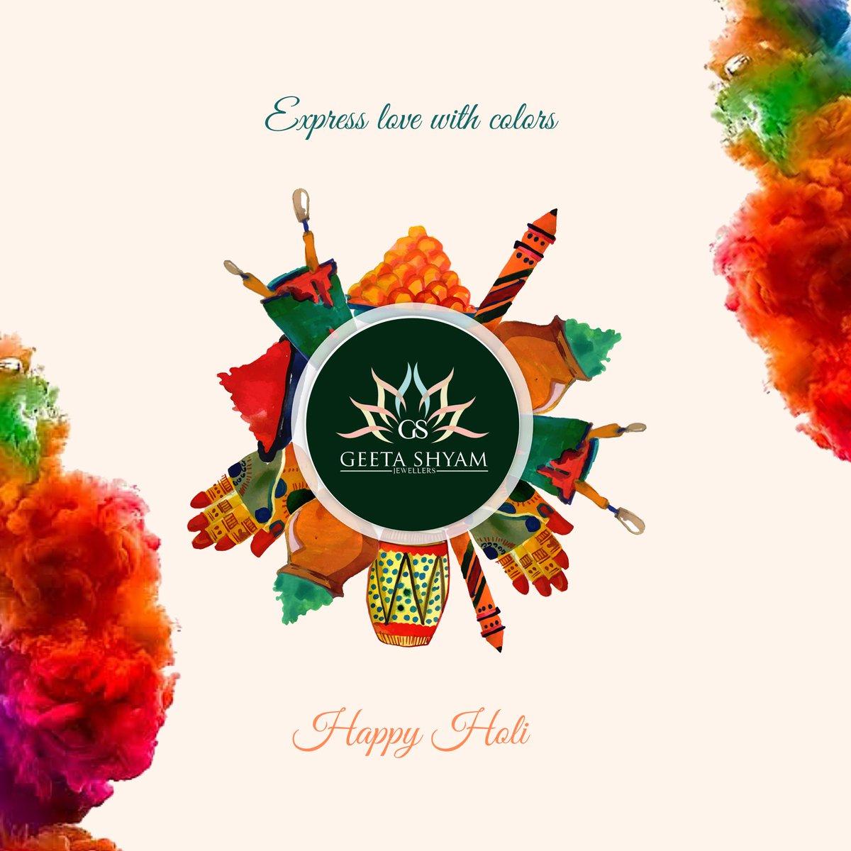 This Holi Express love with colors!!  Happy Holi! #GeetaShyamJewellers  . . #HappyHoli #Holi2020 #JadauJewellery #Jadau #HeritageJewellery #Holi #FestiveVibes #festival #Jaipur #Jewellery #Jewels #InstaHoli #HoliVibes #CelebrateHolipic.twitter.com/gF7iziiyyy
