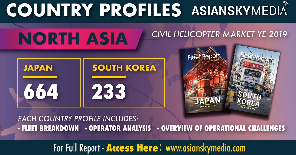 Japan's civil #helicopter fleet is the third largest #turbine fleet in the Asia Pacific, behind Australia and Mainland China: https://t.co/sHacxvQKif  #AsianSkyGroup #AsianSkyMedia #rotary #helicopters #aviation https://t.co/VK1dNgeCOy