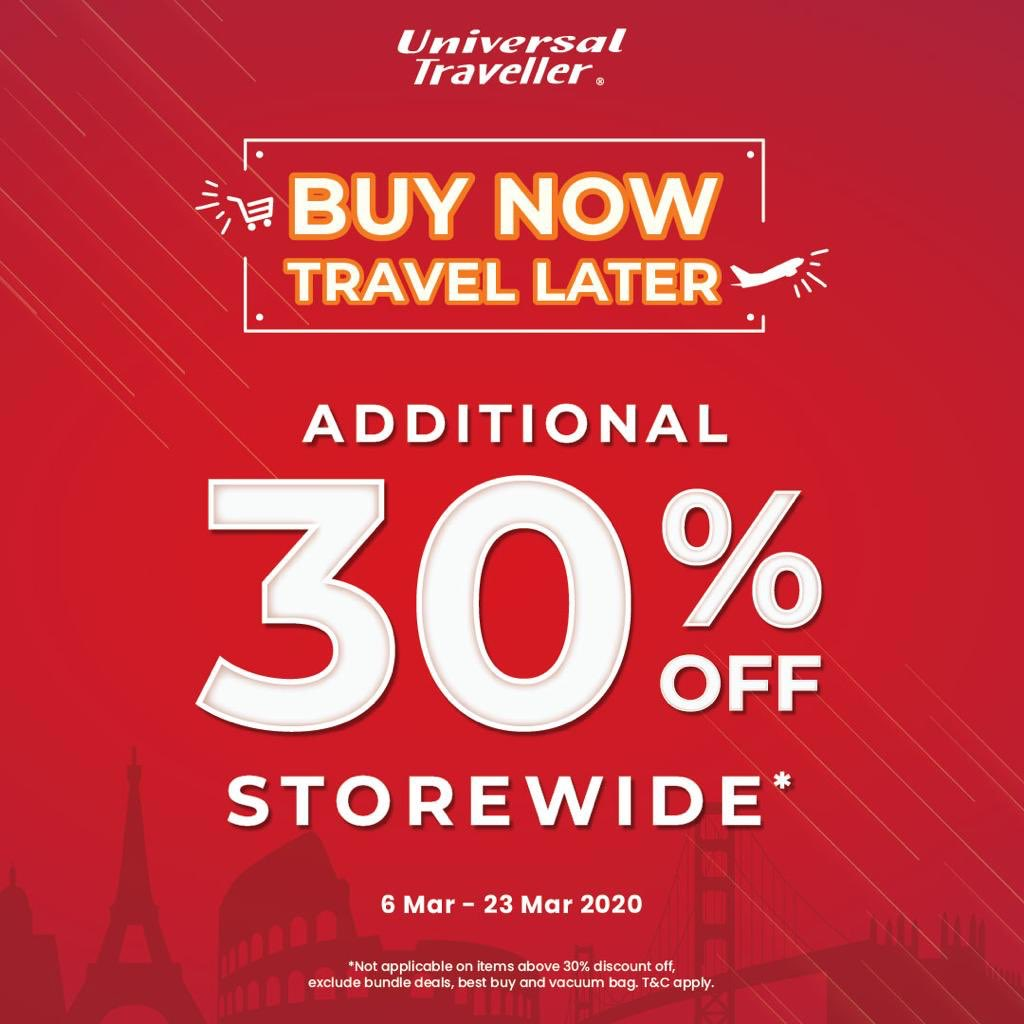 Pondok Indah Mall On Twitter Enjoy An Additional 30 Off Storewide At Universal Traveller This Is The Time You Receive More And More Savings For Your Holidays Buy Now Save More And