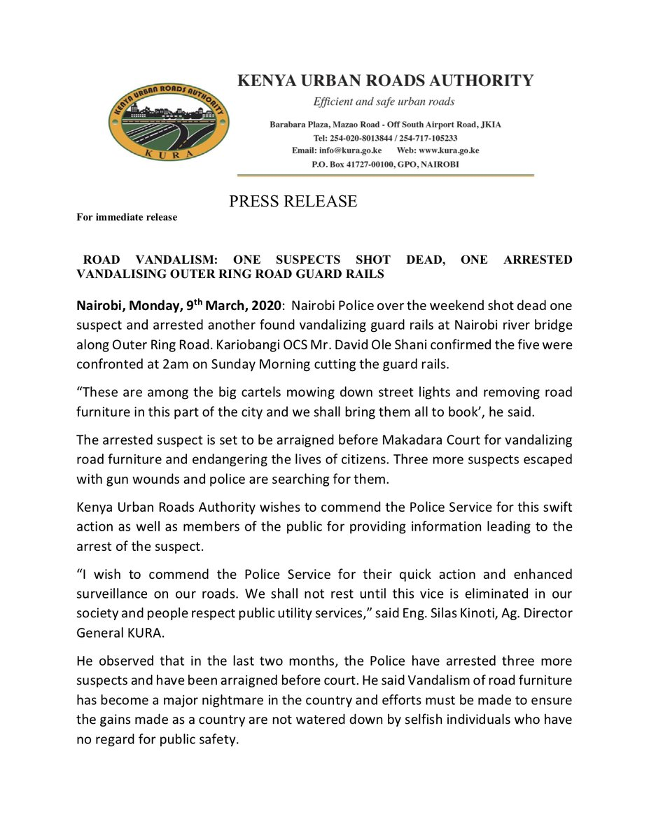 Eyder Peralta On Twitter The Everyday Ruthlessness With Which Kenya Deals With Petty Crime Is On Full Display In This Press Release A Man Was Shot Dead For Vandalizing A Guardrail And Leaked emails reveal what ed miliband really thinks of balls. twitter
